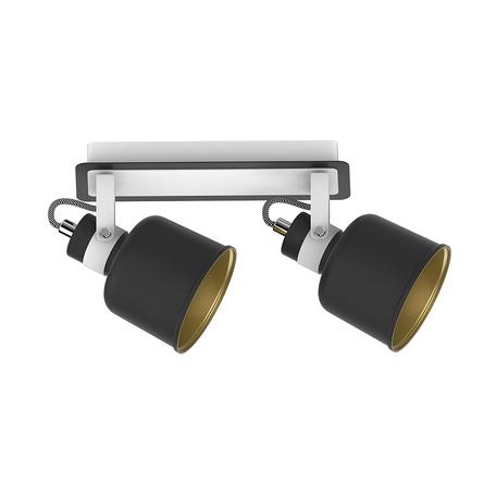 Потолочный светильник с регулировкой направления света Zumaline Redon CK170901-2, 2xE14x40W, белый, черно-белый, черный, металл