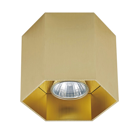 Потолочный светильник Zumaline Polygon 20035-GD, 1xGU10x50W, матовое золото, металл