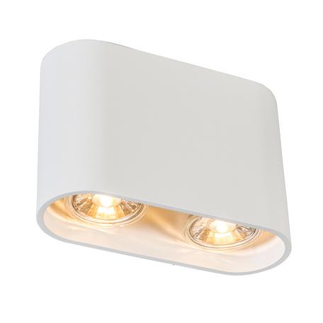 Потолочный светильник Zumaline Ronduo Sl ACGU10-062, 2xGU10x50W, белый, металл