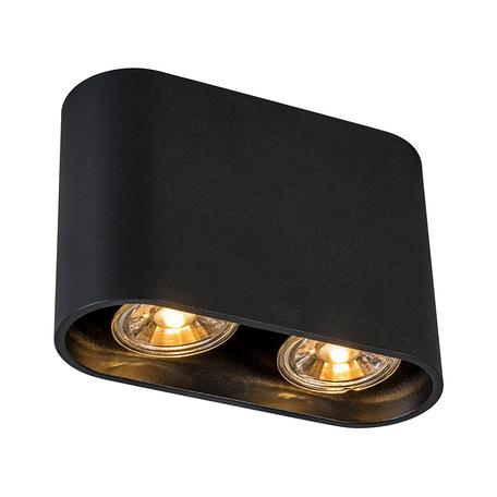 Потолочный светильник Zumaline Ronduo ACGU10-063, 2xGU10x50W, черный, металл