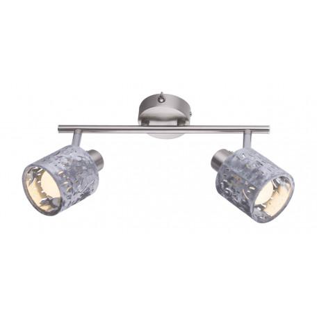 Настенный светильник с регулировкой направления света Globo Alys 54122-2, 2xE14x8W, металл, текстиль