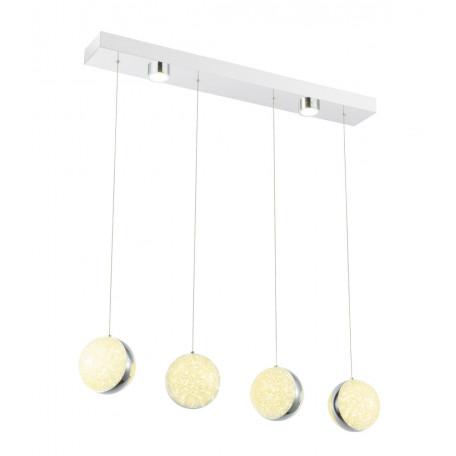 Подвесной светодиодный светильник Globo Tobias 56007-4H 4000K (дневной), металл, пластик