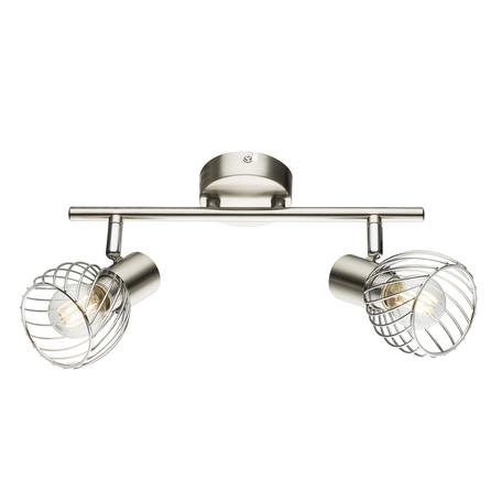 Потолочный светильник с регулировкой направления света Globo Texas 54809-2, 2xE14x40W, металл