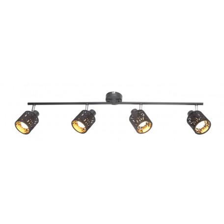 Потолочный светильник с регулировкой направления света Globo Troy 54121-4, 4xE14x8W, металл, текстиль
