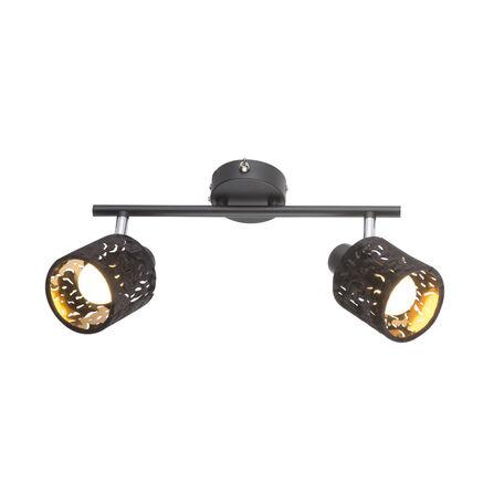 Настенный светильник с регулировкой направления света Globo Troy 54121-2, 2xE14x8W, металл, текстиль