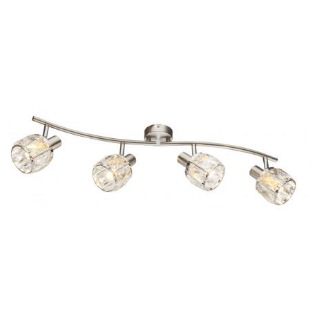 Потолочный светильник с регулировкой направления света Globo Kris 54356-4, 4xE14x40W, металл, стекло