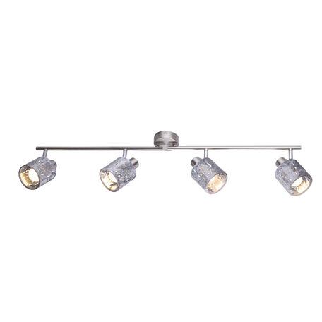 Потолочный светильник с регулировкой направления света Globo Alys 54122-4, 4xE14x8W, металл, текстиль