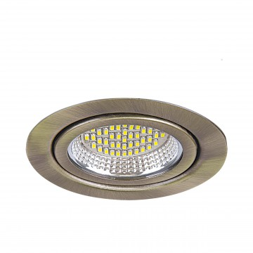 Мебельный светодиодный светильник для встраиваемого или накладного монтажа Lightstar MobiLED 003131, бронза, металл, стекло