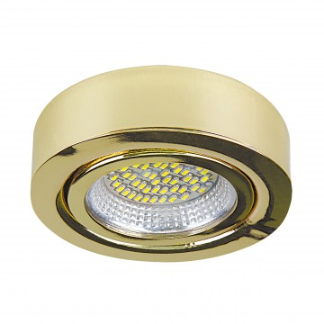 Мебельный светодиодный светильник для встраиваемого или накладного монтажа Lightstar MobiLED 003132, LED 3,5W 3000K 270lm, золото, металл