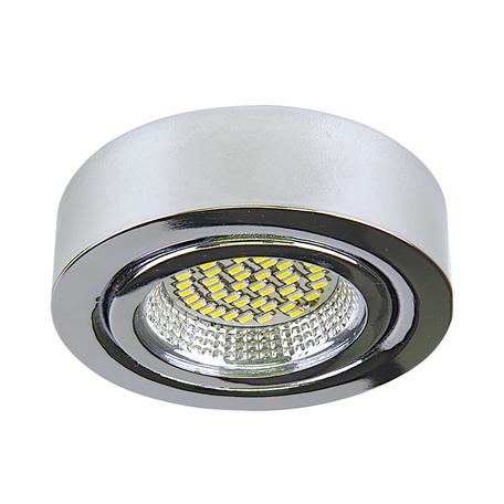 Мебельный светодиодный светильник для встраиваемого или накладного монтажа Lightstar MobiLED 003134, хром, металл, стекло
