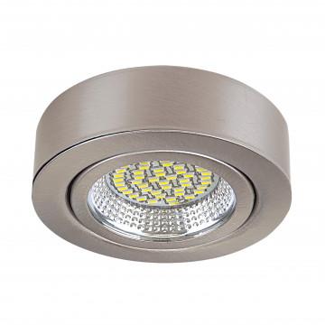 Мебельный светодиодный светильник для встраиваемого или накладного монтажа Lightstar MobiLED 003135, LED 3,5W 3000K 270lm, никель, металл