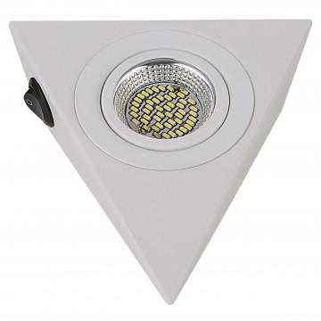 Мебельный светодиодный светильник Lightstar MobiLED Ango 003140, LED 3,5W 3000K 270lm, белый, металл