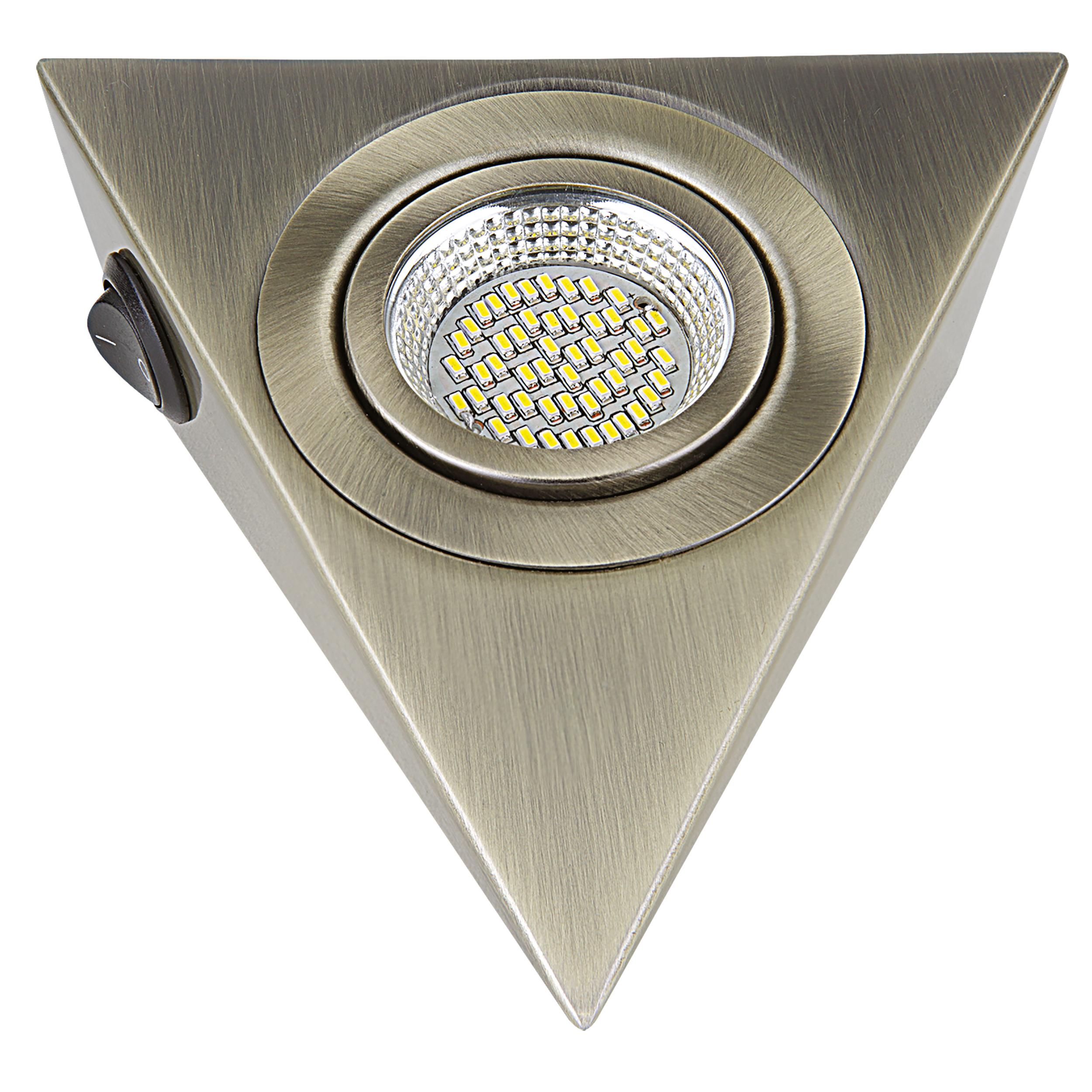 Мебельный светодиодный светильник Lightstar MobiLED Ango 003141, LED 3,5W 3000K 270lm, бронза, металл - фото 1