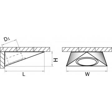 Схема с размерами Lightstar 003141