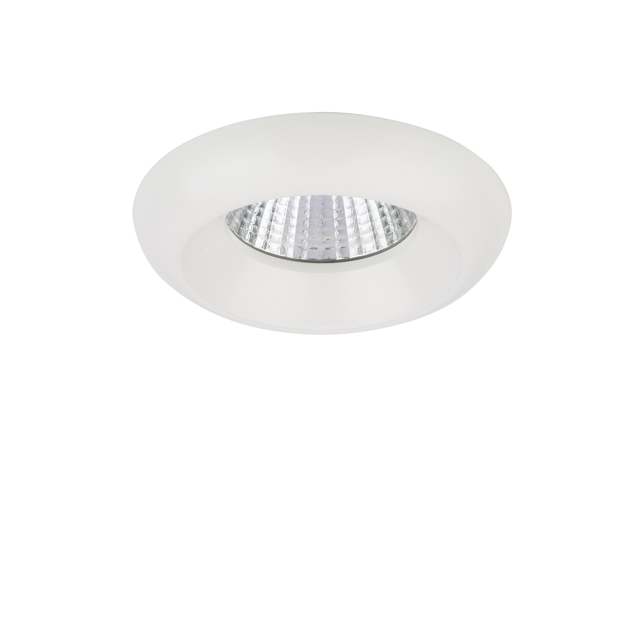 Встраиваемый светодиодный светильник Lightstar Monde 071076, IP44, LED 7W 3000K 560lm, белый, металл - фото 1