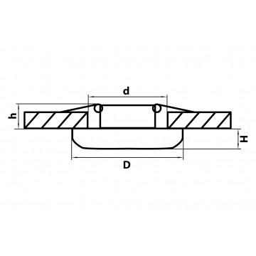 Схема с размерами Lightstar 071076