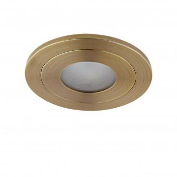 Встраиваемый светодиодный светильник Lightstar LEDdy 212172, IP44, LED 3W 3000K 240lm, бронза, металл - миниатюра 1