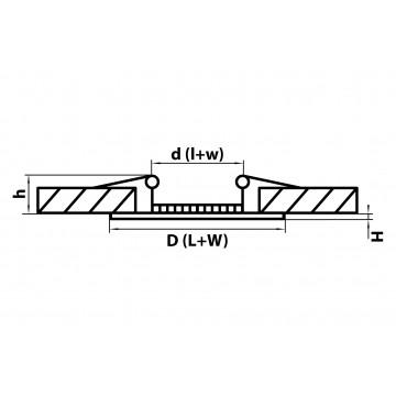 Схема с размерами Lightstar 223182