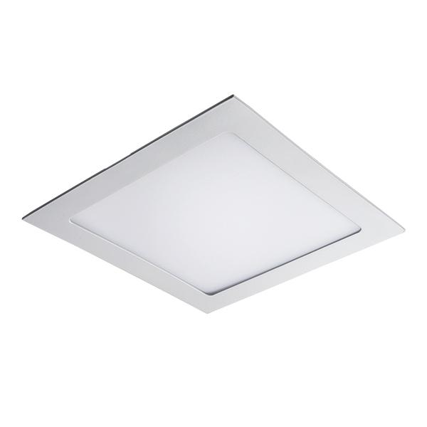 Встраиваемая светодиодная панель Lightstar Zocco 224182, IP44, LED 18W 3000K 900lm, белый, металл с пластиком - фото 1