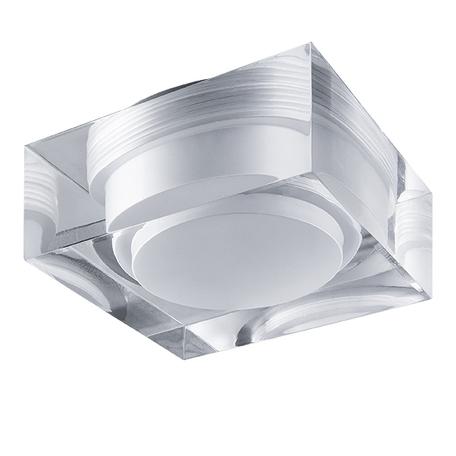 Встраиваемый светодиодный светильник Lightstar Artico 070242, IP44, LED 5W 3000K 400lm, прозрачный, стекло