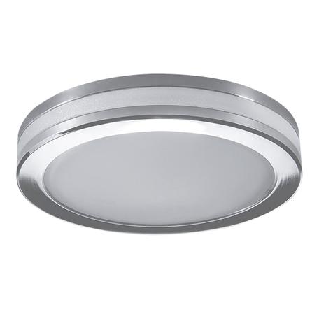 Встраиваемый светодиодный светильник Lightstar Maturo 070252, IP44, LED 5W 3000K 470lm, хром, металл со стеклом