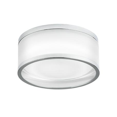 Встраиваемый светодиодный светильник Lightstar Maturo 072272, IP44, LED 7W 3000K 650lm, хром, стекло