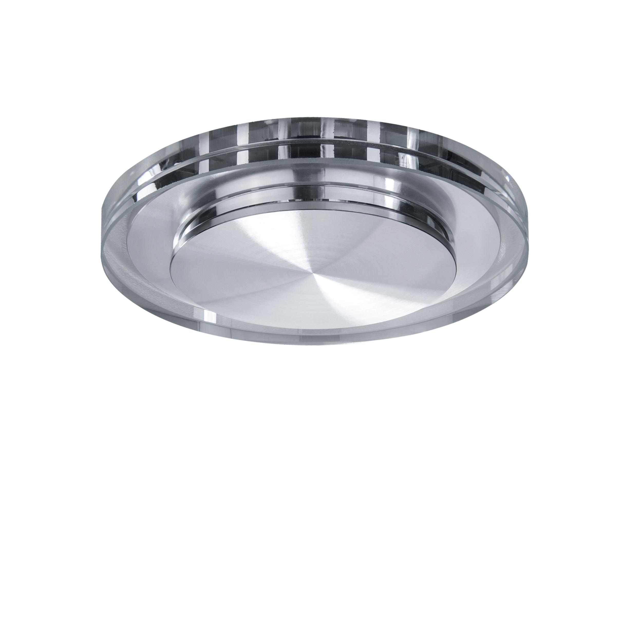 Встраиваемый светодиодный светильник Lightstar Speccio 070312, IP44, LED 5W 3000K 380lm, прозрачный, стекло - фото 1
