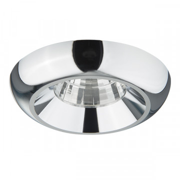Встраиваемый светодиодный светильник Lightstar Monde 071074, IP44, LED 7W 3000K 560lm, хром, металл