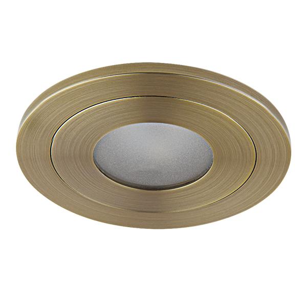 Встраиваемый светодиодный светильник Lightstar LEDdy 212172, IP44, LED 3W 3000K 240lm, бронза, металл - фото 1