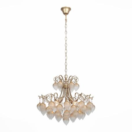 Подвесная люстра ST Luce Frutti SL659.303.04, 4xE14x40W, золото, матовое золото, металл, стекло