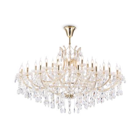 Подвесная люстра Maytoni Royal Classic Erna DIA880-PL-35-G, 35xE14x40W, золото с прозрачным, прозрачный с золотом, прозрачный, стекло, хрусталь