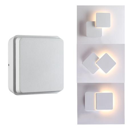 Настенный светодиодный светильник Novotech Street Kaimas 357827, IP54, LED 12W 3000K 660lm, белый, металл, пластик