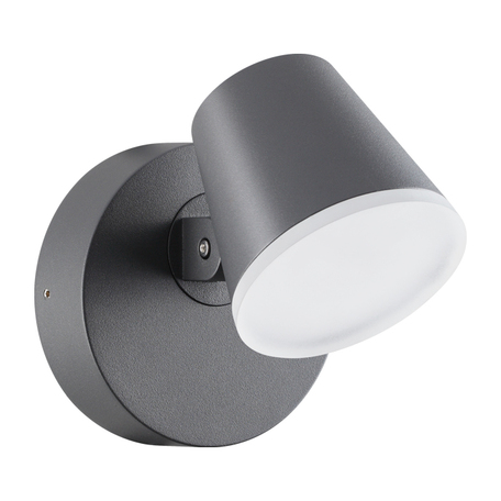 Настенный светодиодный светильник с регулировкой направления света Novotech Kaimas 357830, IP54, LED 12W 3000K 700lm, серый, металл, пластик
