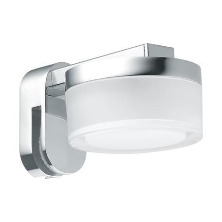 Настенный светодиодный светильник для подсветки зеркал Eglo Romendo 97842, IP44, LED 4,5W 3000K 480lm CRI>80, хром, белый, металл, пластик
