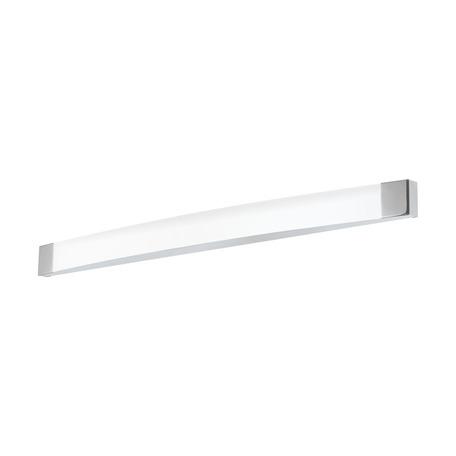 Настенный светодиодный светильник для подсветки зеркал Eglo Siderno 98193, IP44, LED 24W 4000K 2600lm CRI>80, хром, белый, металл с пластиком