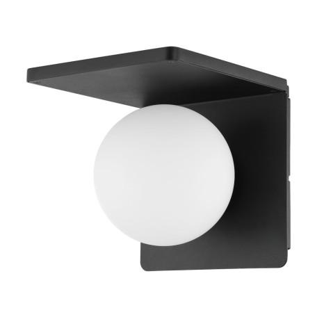 Настенный светильник с полкой Eglo Ciglie 98265, 1xE14x40W, черный, белый, металл, стекло