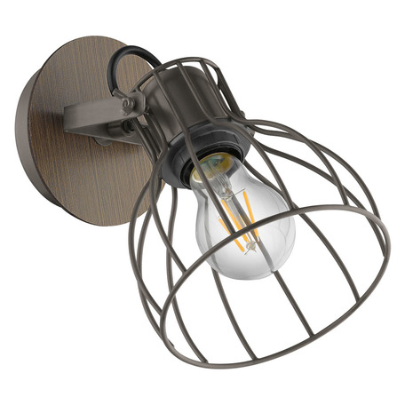 Настенный светильник с регулировкой направления света Eglo Sambatello 98134, 1xE27x40W, коричневый, дерево, металл