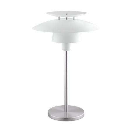 Настольная лампа Eglo Brenda 98109, 1xE27x60W, никель, белый, металл