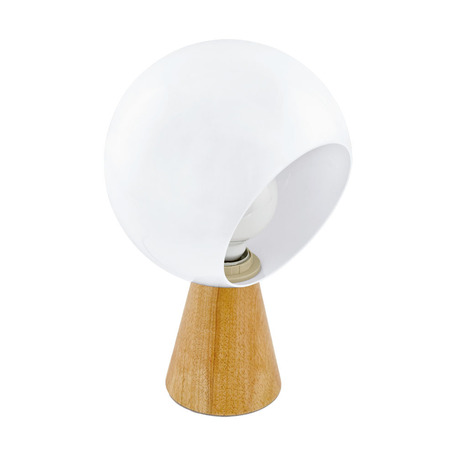 Настольная лампа Eglo Mamblas 98278, 1xE27x60W, коричневый, белый, дерево, пластик