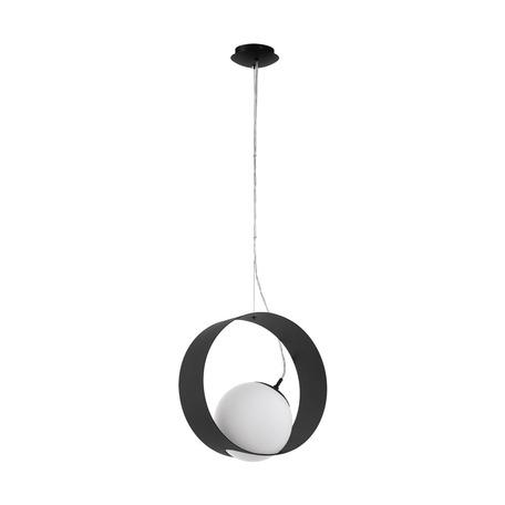 Подвесной светильник Eglo Camargo 98192, 1xE27x40W, черный, металл, металл со стеклом