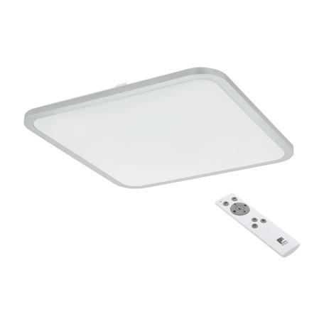 Потолочный светодиодный светильник с пультом ДУ Eglo Cogoleto 98258, LED 30W 3050K 3200lm, серебро, белый, металл, пластик