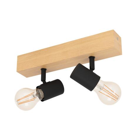 Потолочный светильник с регулировкой направления света Eglo Townshend 3 98112, 2xE27x60W, коричневый, дерево