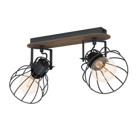 Потолочный светильник с регулировкой направления света Eglo Sambatello 98135, 2xE27x40W, коричневый, дерево, металл