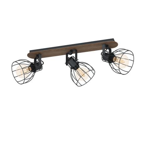 Потолочный светильник с регулировкой направления света Eglo Sambatello 98136, 3xE27x40W, коричневый, дерево, металл