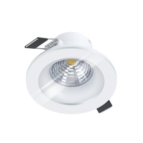 Встраиваемый светодиодный светильник Eglo Salabate 98238, IP44, LED 6W 3000K 380lm, белый, металл со стеклом