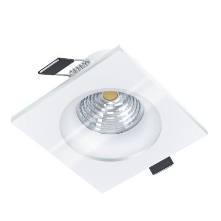 Встраиваемый светодиодный светильник Eglo Salabate 98242, IP44, LED 6W 4000K 450lm, белый, металл со стеклом
