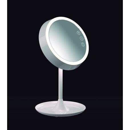 Косметическое зеркало с подсветкой Mantra Lady 6040, белый, металл, стекло