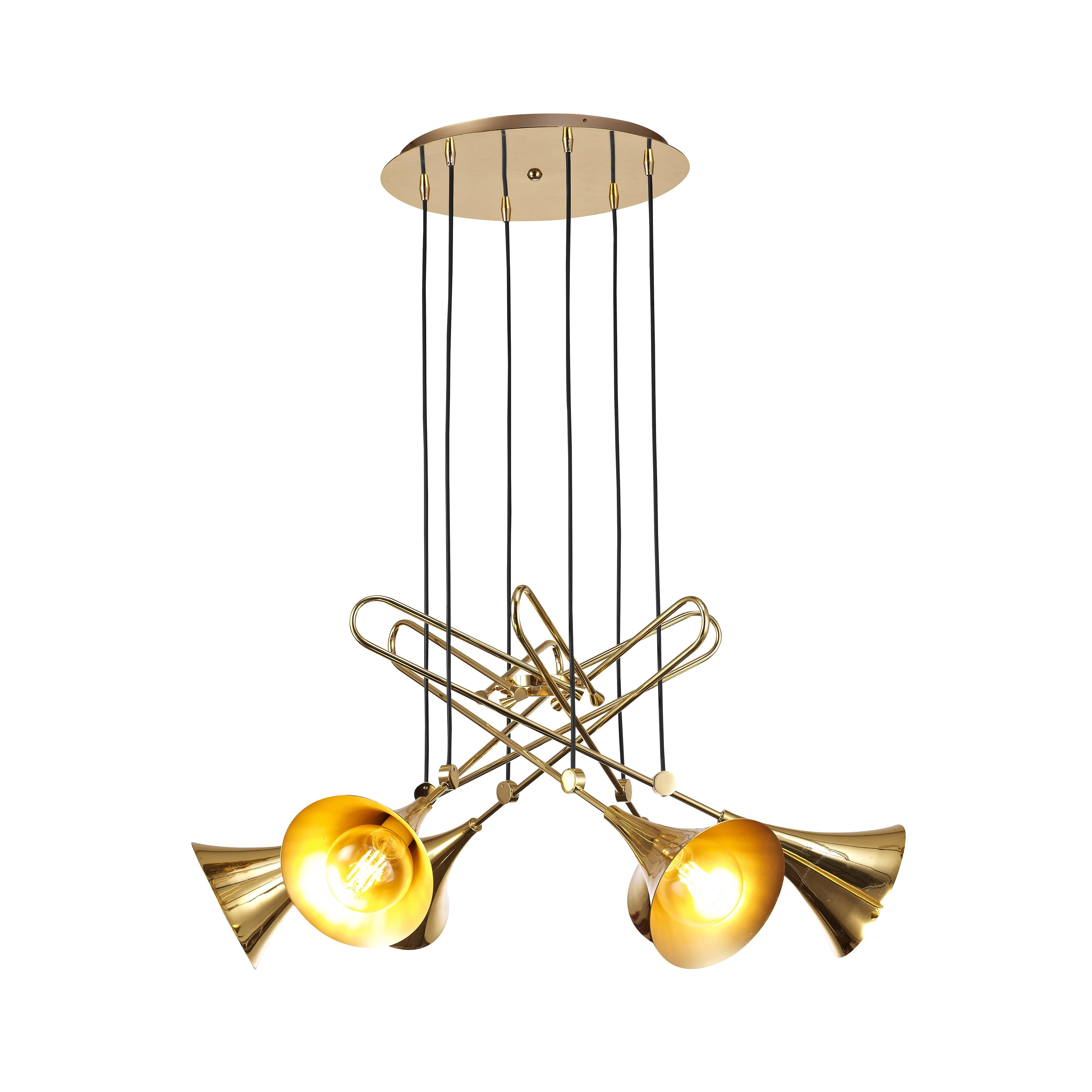 Подвесная люстра Mantra Jazz 5895, золото, металл - фото 1