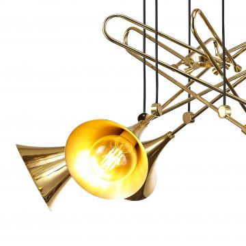 Подвесная люстра Mantra Jazz 5895, золото, металл - миниатюра 3
