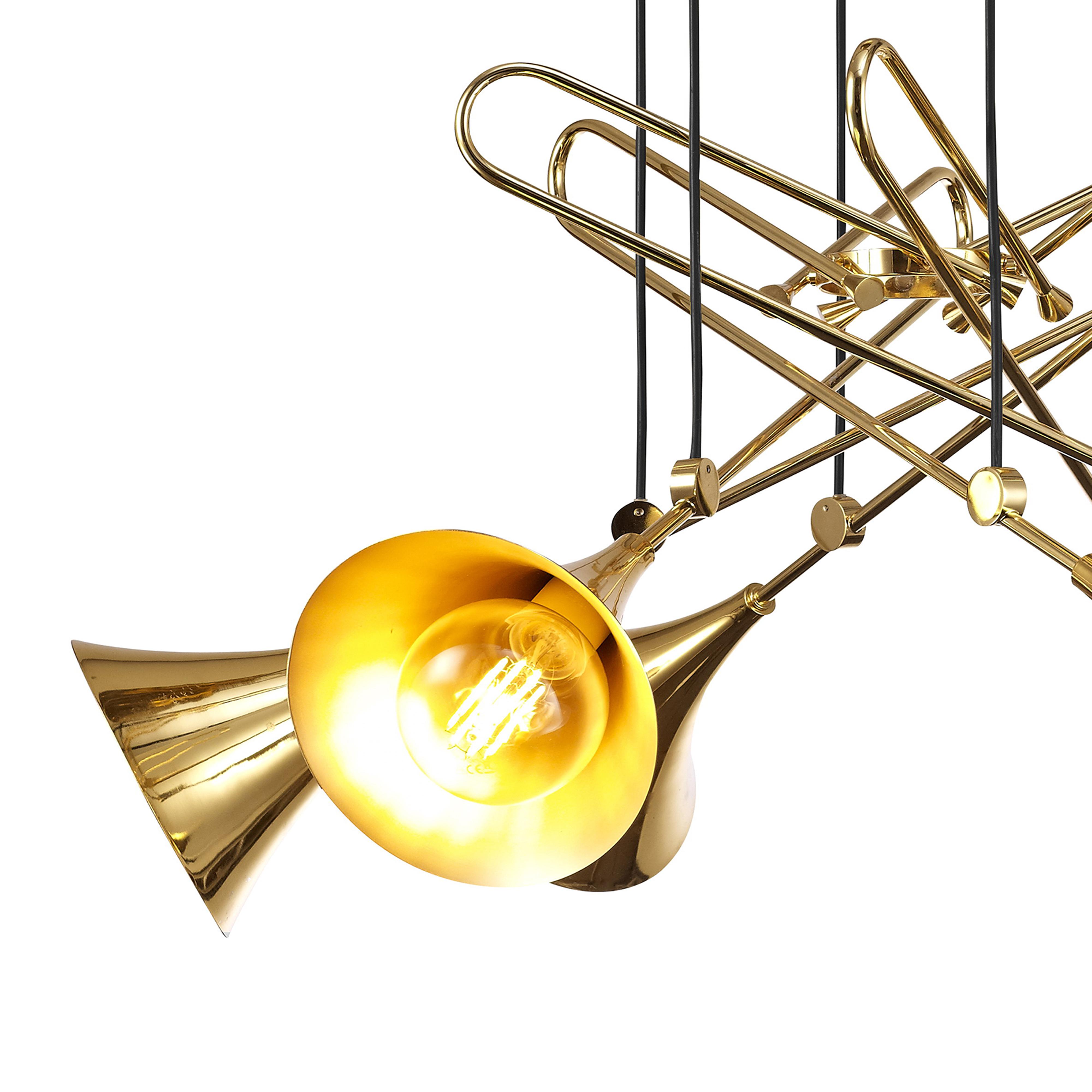 Подвесная люстра Mantra Jazz 5895, золото, металл - фото 3